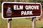 Elm Grove Park Sign